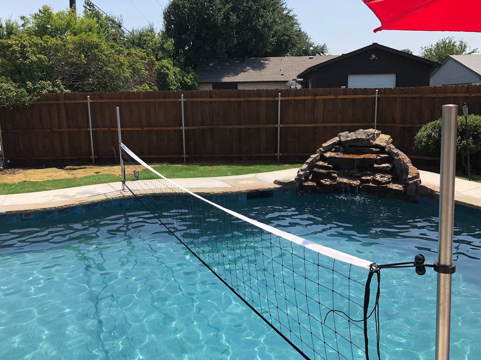 Commercial Grade Pool Volleyball Sets And Volleyball Nets Available In Different Sizes To Fit Your Pool Mounts Cleanly To Your Pool Deck
